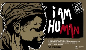 anti xenophobia, activist poster campaign. the posters are based on the universal declaration of human rights articles, and address the xenophobic attacks